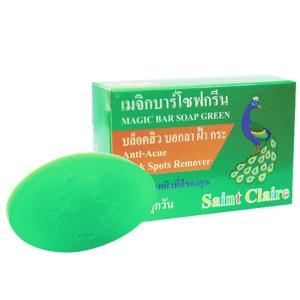 สบู่ก้อนน้ำผึ้งสีเขียว saint claire